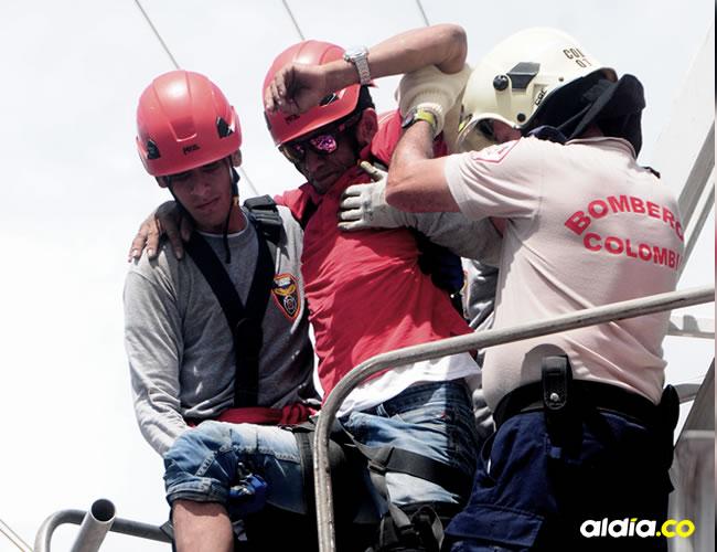 Antonio Niebles fue rescatado por el Cuerpo de Bomberos de Soledad | Al Día