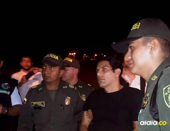 Assi Mosh cuando era conducido por la Policía Nacional | Imagen suministrada