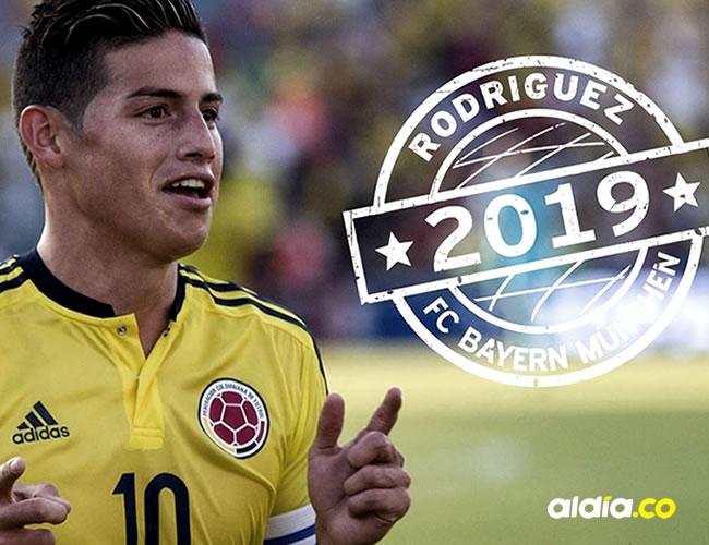 El jugador colombiano James Rodríguez.