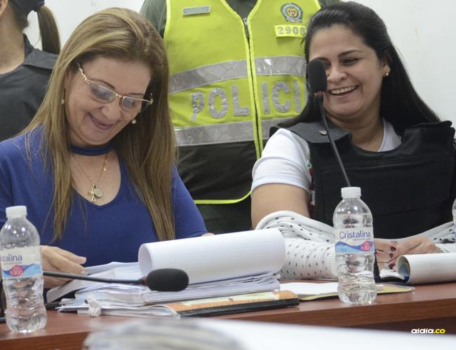 Dayana Jassir (der.) en una audiencia reciente | Archivo