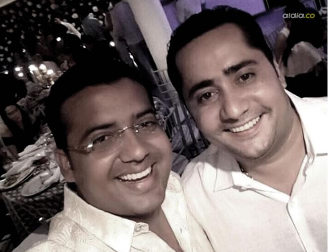 El alcalde Augusto Ramírez (izquierda) y Miguel Dayan Serrano eran amigos desde la infancia | Cortesía