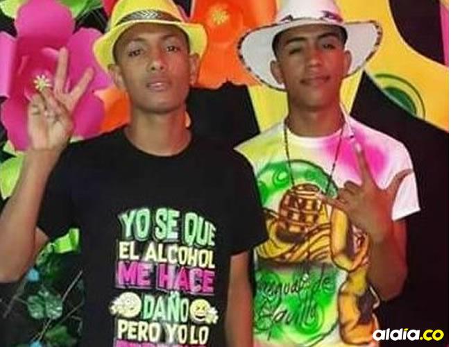 Javid Fábregas López, de 16 años; y Diego Armando Barrios Carrillo, de 18. | Al Día