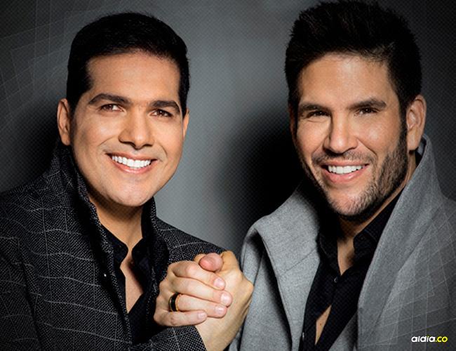 Peter Manjarrés, cantante valduparense y Juancho De la Espriella, acordeonero sincelejano.