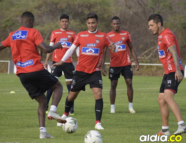 Teófilo Gutiérrez durante la práctica del jueves pasado en Adelita de Char.