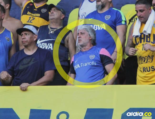 Di Zeo (centro) ayer durante el partido en el Metropolitano. | Al Día