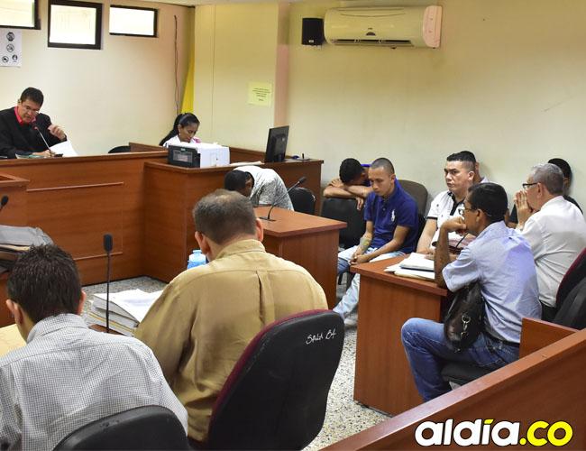 Los ocho capturados comparecieron ante el Juzgado segundo penal municipal de control de garantías de Valledupar.