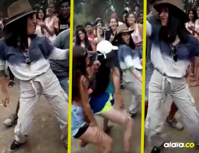 Lo que llamó la atención de los internautas era la manera tan particular en la que la mujer, quien es también la directora de la institución | Captura de video Expreso de Salta