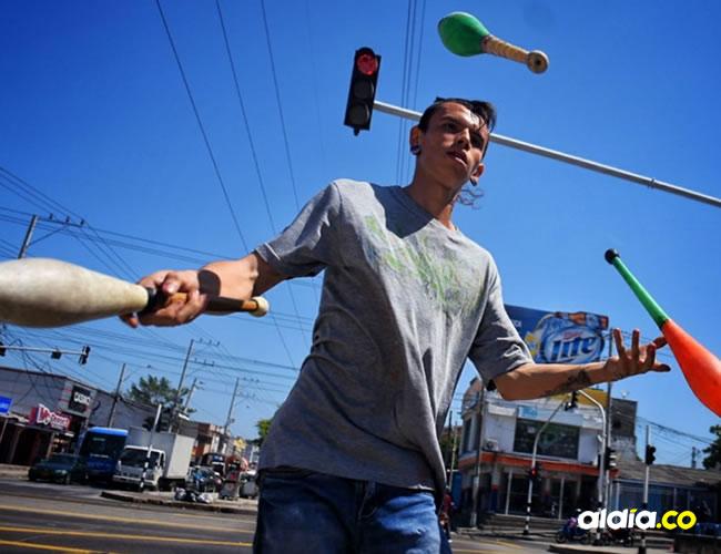 Gino Duque hace de su equilibrio una de sus mayores fortalezas.   César Bolívar - AL DÍA