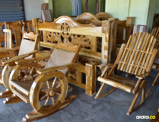 La fabricación de muebles y demás objetos con madera es una constante en el municipio de Sampués.