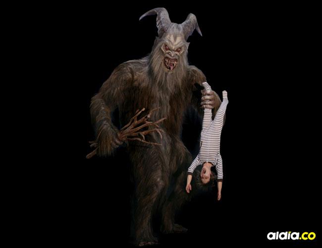 Según la leyenda Krapus era el encargado de llevarse a los niños que se portaban mal.