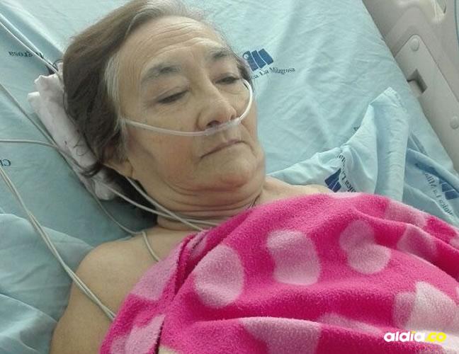 María Adiela Corrales, de 74 años, está hospitalizada en una clínica. | Al Día