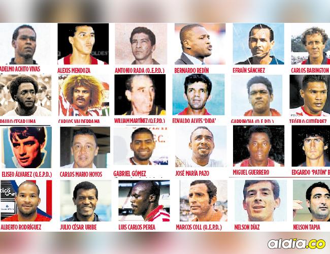 Listado de los 29 jugadores mundialistas que han estado en el Junior de Barranquilla. | Archivo
