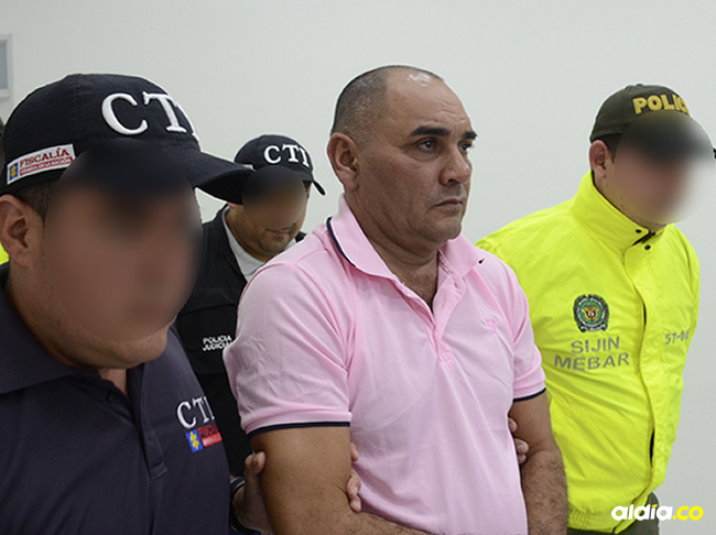 Nilson Mier Vargas en una de las diligencias judiciales luego de su captura. | Al Día