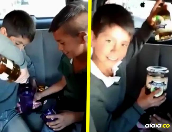 VIDEO   Niños se graban mientras toman mezcal y se emborrachan