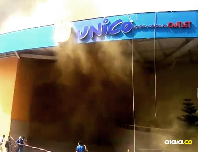 El centro comercial el Único sufrió un grave incendio | Cortesía