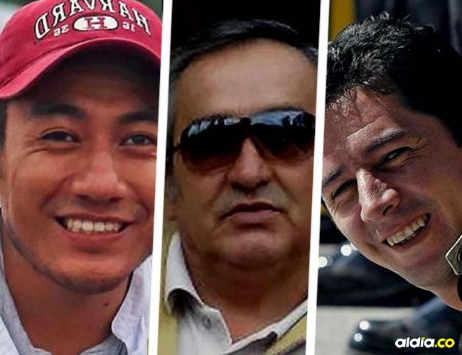 El periodista Javier Ortega (32), el fotógrafo Paúl Rivas (45) y el conductor Efraín Segarra (60)   AFP
