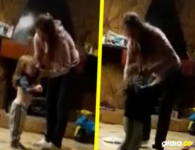 El video se volvió viral, llegó hasta las autoridades, quienes capturaron a la mujer, le quitaron la custodia del pequeño y se lo entregaron a su padre biológico | Clarín
