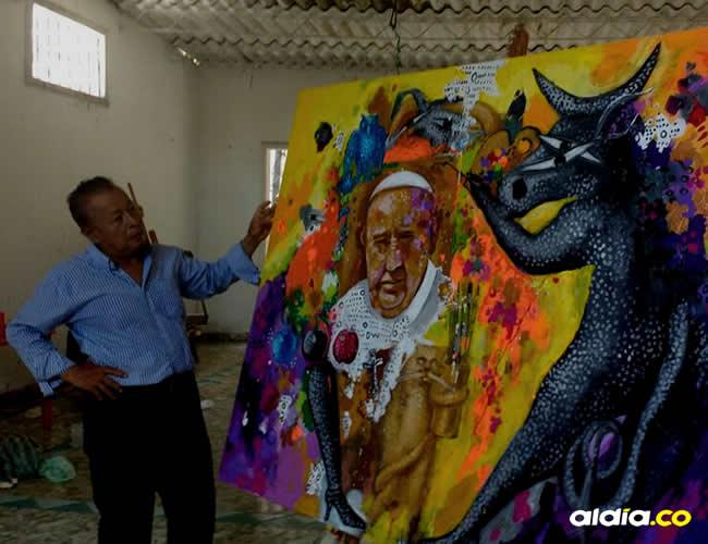 Carlos Julio Márquez afirmó que la pintura es una creación que le nació, sin ningún propósito comercial, ni coyuntural | Al Día