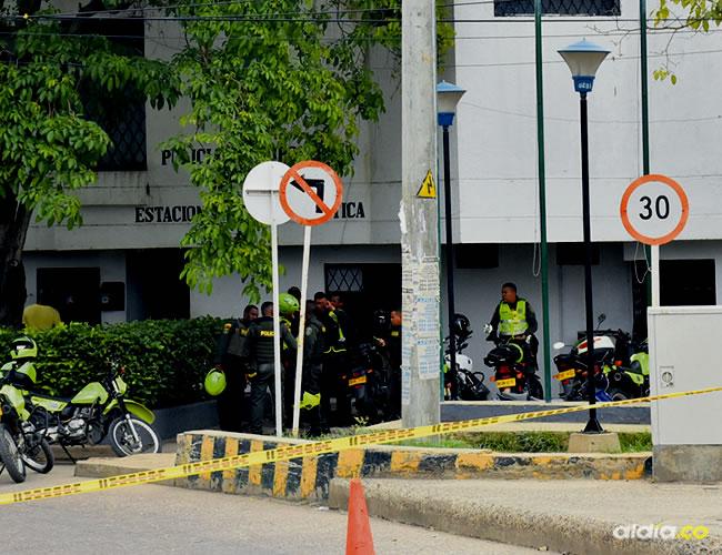 En menos de una semana dos estaciones de Policía ubicadas en la zona suroriental de Cartagena han sido escenarios de atentados terroristas a manos del 'Clan del Golfo' | Lorena Henriquez