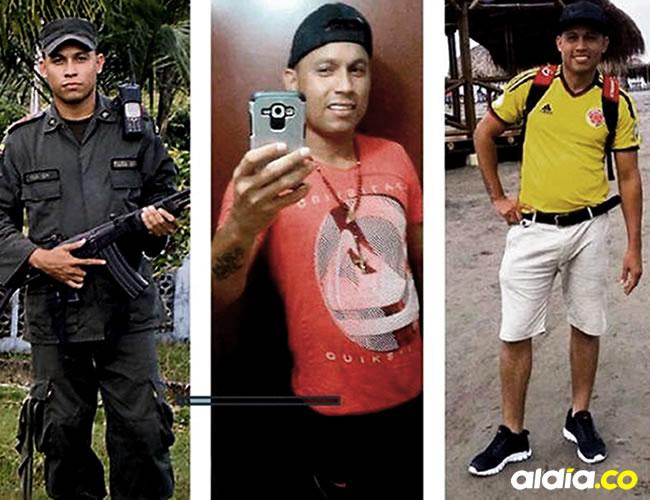 Levith Aldemar Rúa Rodríguez desde sus días como policía hasta el viernes, cuando fue llevado a audiencia.Luis F. de la Hoz y tomadas de Facebook
