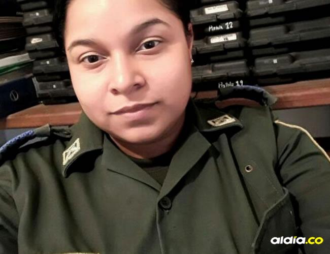 Ángela Ospino Villegas, de 28 años, quien se disparó en la Estación de Fonseca con la pistola de dotación oficial en la cabeza | Al Día