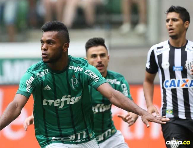 El delantero cordobés Miguel Borja aparece como la principal amenaza de Palmeiras, que enfrentará este miércoles a Junior por Copa Libertadores de América.