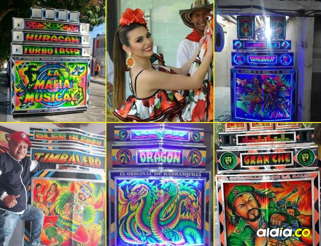 Algunos de los turbos que tendrán desde hoy eventos. La reina del Carnaval Carolina Segebre llevará la alegría al lado de picós.