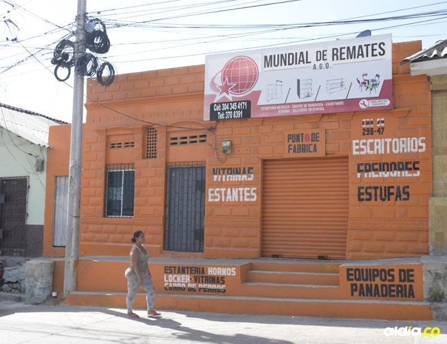 En esta calle ocurrió el caso. El bandido está capturado en el Hospital Barranquilla.