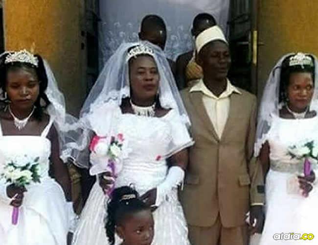 El hombre afirmó que no quería discriminar a ninguna y por eso les propuso matrimonio | Captura de pantalla
