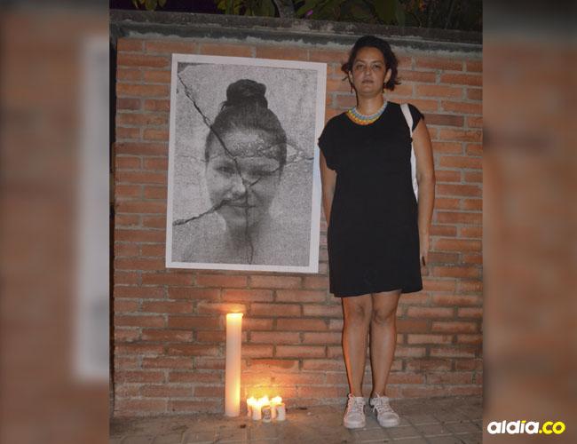Liz Fernanda Támara, artista plástica sincelejana, artífice de 'Mujer fragmentada'.