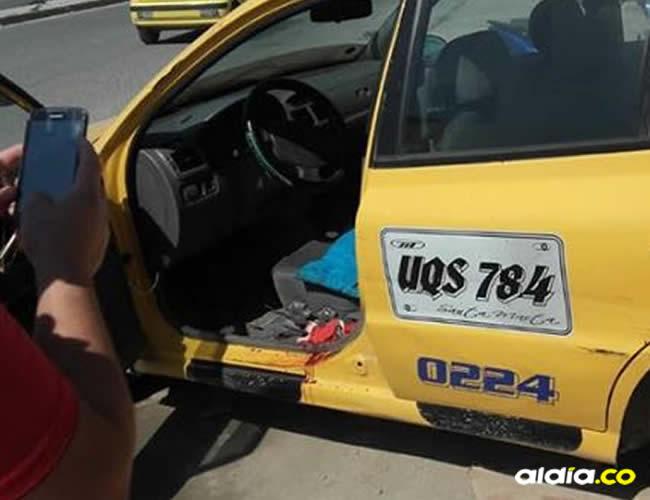 El venezolano le solicitó una carrera al conductor del carro UQS-784 pero cuando iban en vía, sacó un cuhcillo y lo agredió   Al Día