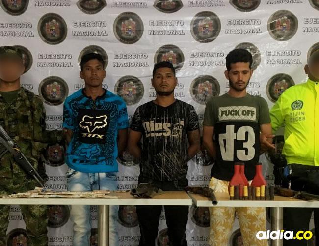 Los detenidos fueron identificados, según reportaron fuentes militares, como Daniel Jesús Giraldo Diaz, Aleks Mauricio Ortiz Rocha y Jorge Enrique Mieles Velásquez, este último integrante del Eln  | Al Día