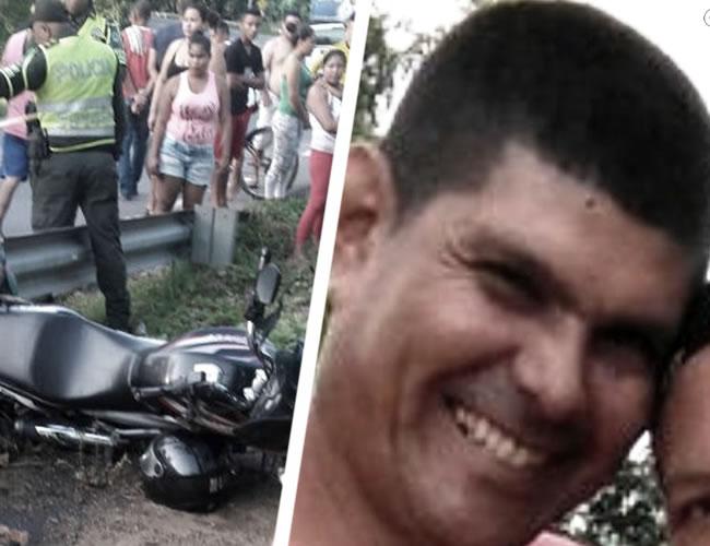 Wilmar Solipaz Pereira, de 48 años, murió luego de estrellar la motocicleta que conducía desde Sincelejo hacia el sur de Bolívar. Al parecer se asustó cuando vio a la Policía en la vía | Al Día