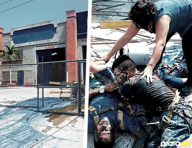 Tres de los obreros cayeron desde ocho metros de altura | ALDÍA