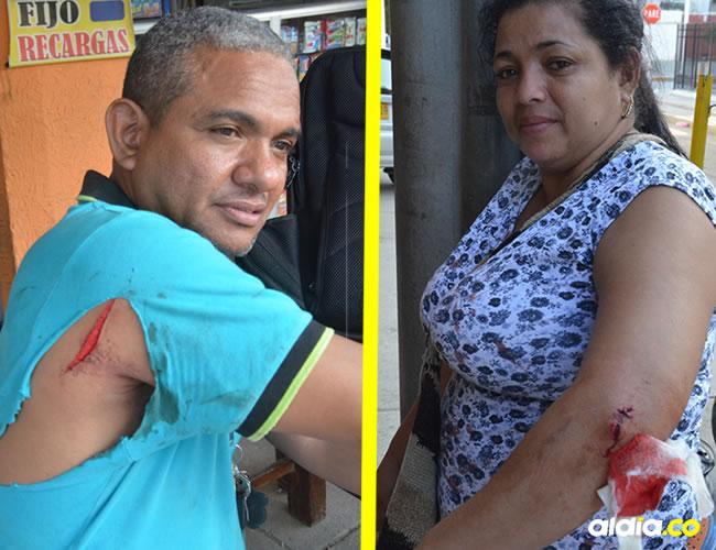 Omar Granados, de 46 años, resultó herido en el brazo y en la espalda. Sus familiares también fueron agredidas | José Puente Sobrino