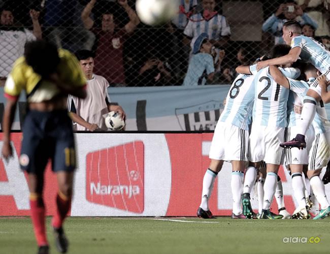 Argentina y Colombia para la Copa Mundo Rusia 2018, en el estadio San Juan Del Bicentenario, en San Juan (Argentina) | EFE - NICOLÁS AGUILERA