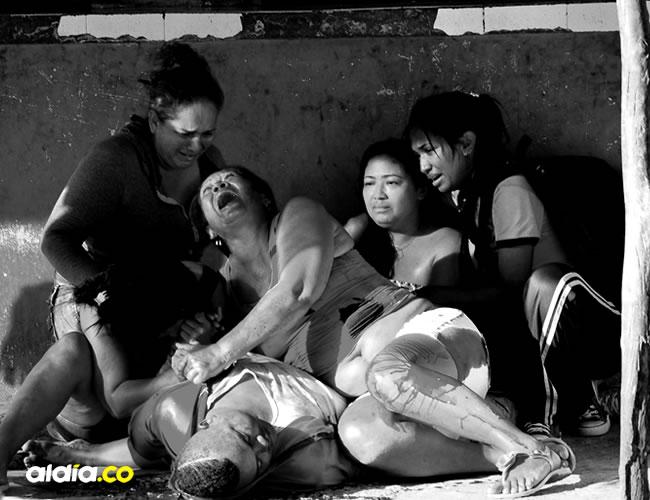 Escenas de dolor se vieron en la escena del crimen de Aldo Méndez Rivas | Al Día