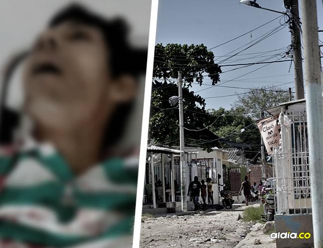 Raúl Lezama Campo, recibió varias puñaladas con pico de botella Los hechos ocurrieron en la madrugada de ayer en la esquina del sector La Maravilla de Olaya Herrera | Cortesía