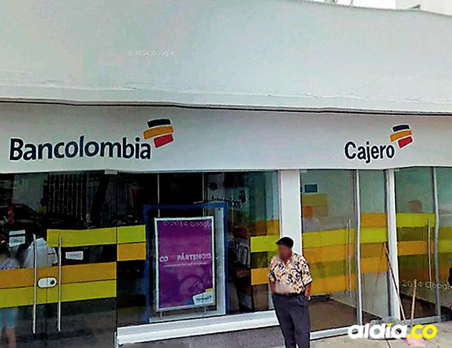 El ciudadano fue atracado por cuatro hampones cuando iba a entrar a la sucursal de Bancolombia en Malambo | Google Maps