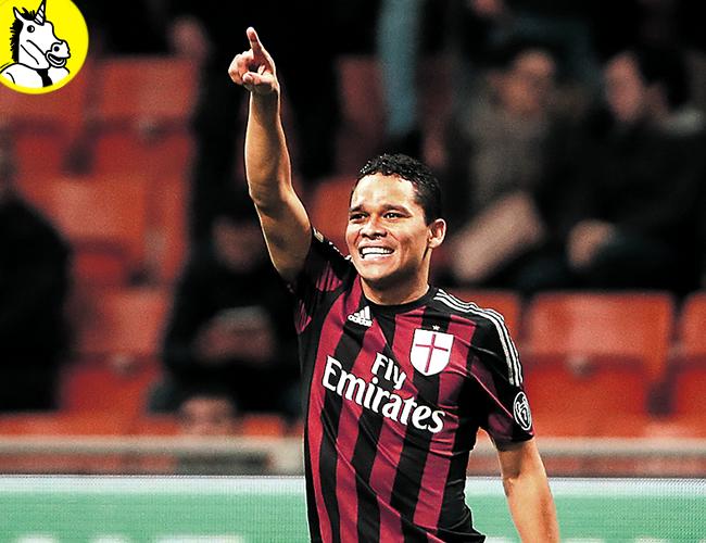 Bacca suma 10 goles en la Liga Italiana en su primera temporada con el A.C. Milan | Foto: AP