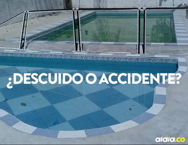 El hijo de nueve años de Daniela dejó abierta la reja que separa la casa de la piscina | Cortesía