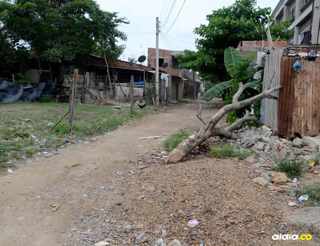 La calle Las Flores ubicado en el barrio El Pozón | AL DÍA
