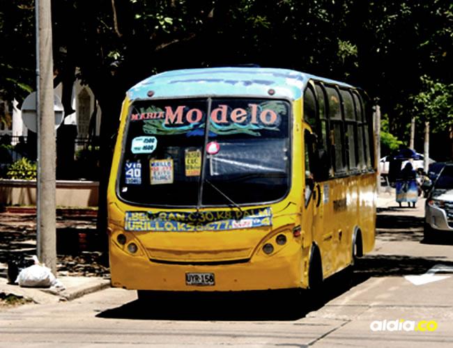 Las rutas de los buses en Barranquilla han sufrido con los constantes atracos   ALDÍA.CO