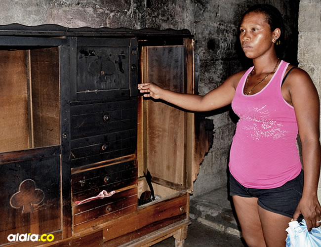 La vendedora de tintos quedó sin ninguna pertenencia | Richard Olguín