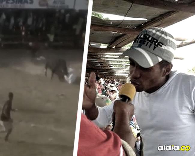 Carlos Rafael Castro Acuña fue corneado durante las corralejas de Manatí | ALDÍA.CO