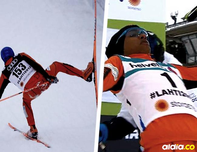 Adrián Solano tuvo problemas incluso para mantenerse en pie durante el recorrido | ALDÍA.CO