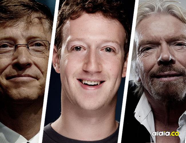 Bill Gates, Mark Zuckerberg, Richard Branson y Jack Ma son ejemplo de éxito   ALDÍA
