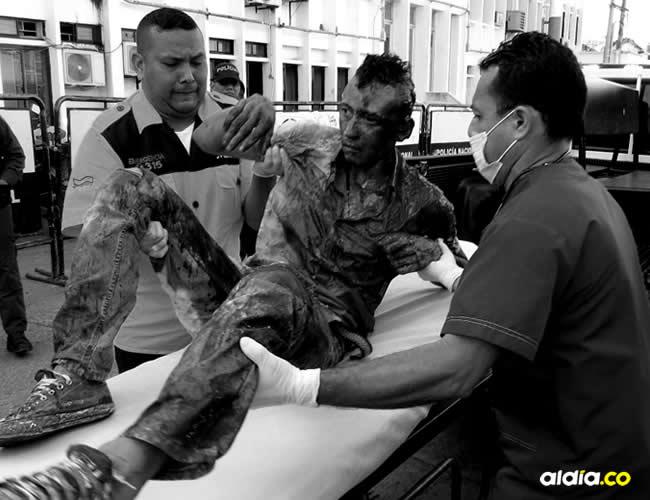 El atracador herido fue identificado como Arles Segundo Lázaro Cuello | ALDÍA