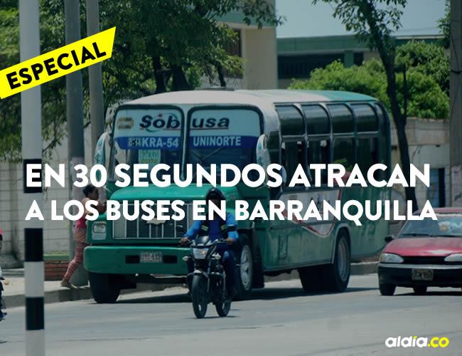 La calle 17 es uno de los puntos más críticos en cuanto a atracos en buses, en Barranquilla | Johnny Olivares