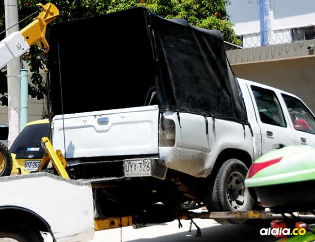 Once de los conductores que estaban dentro de la camioneta fueron arrestados y llevados a la UPJ | ALDÍA